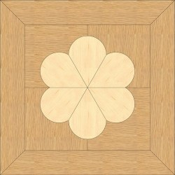 Back Oak, Maple inlay